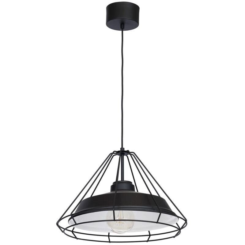 Żyrandol Luminex Works kage with steel shade black x1