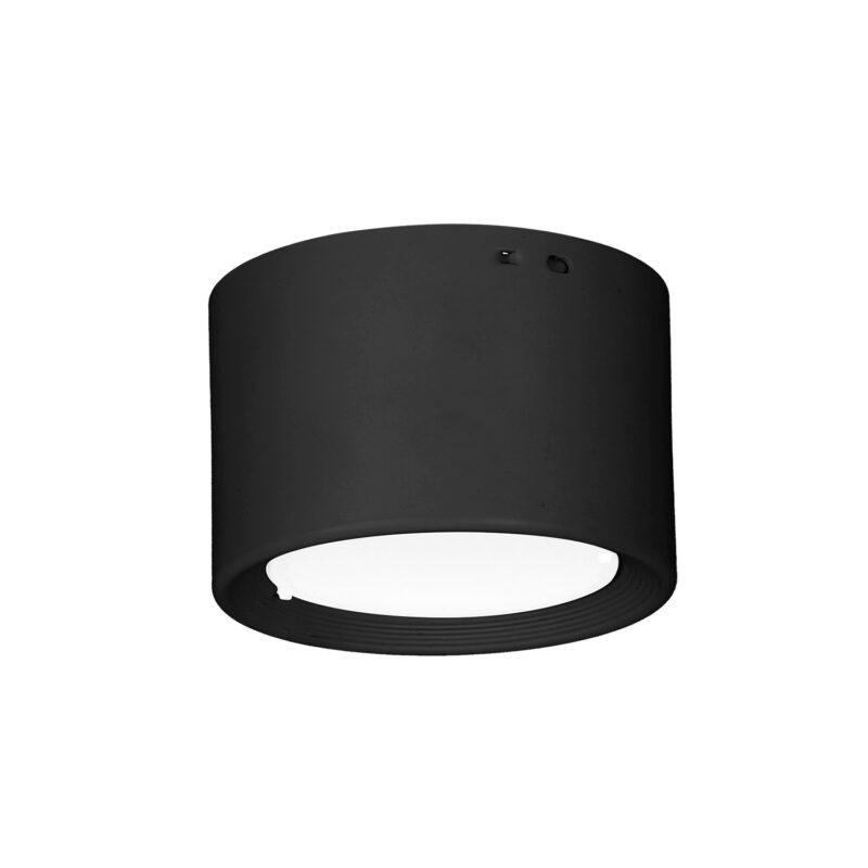Downlight Luminex white LED black 8 cm