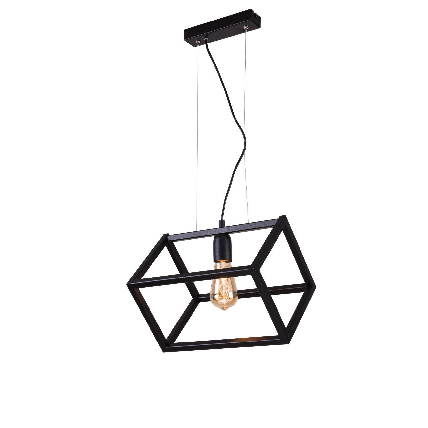 Lampa wisząca Aldex x1 Cube Black 1026G1