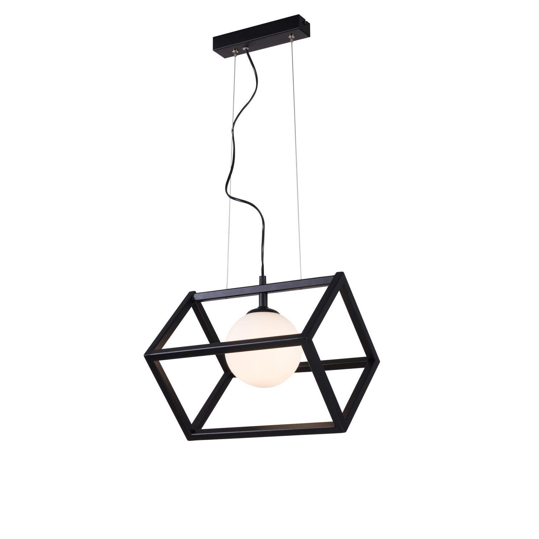 Lampa wisząca Aldex x1 Cube Glass Black 1027G1
