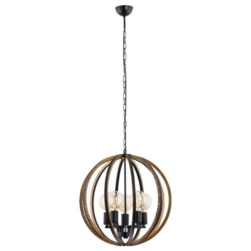 Lampa wisząca Argon Korfu orzech 2056 x5