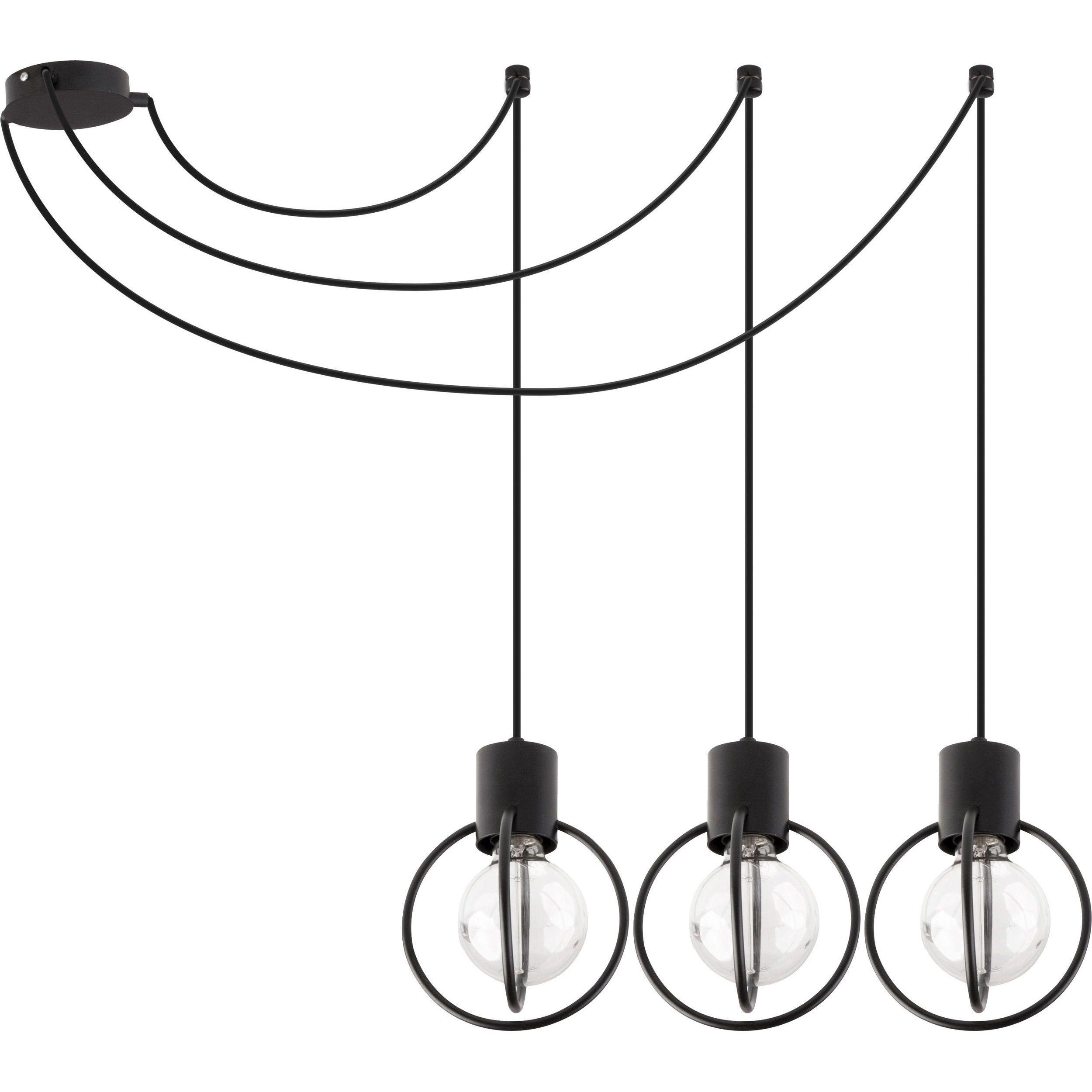 Lampa podwieszana Sigma Aura Koło x3 Czarny