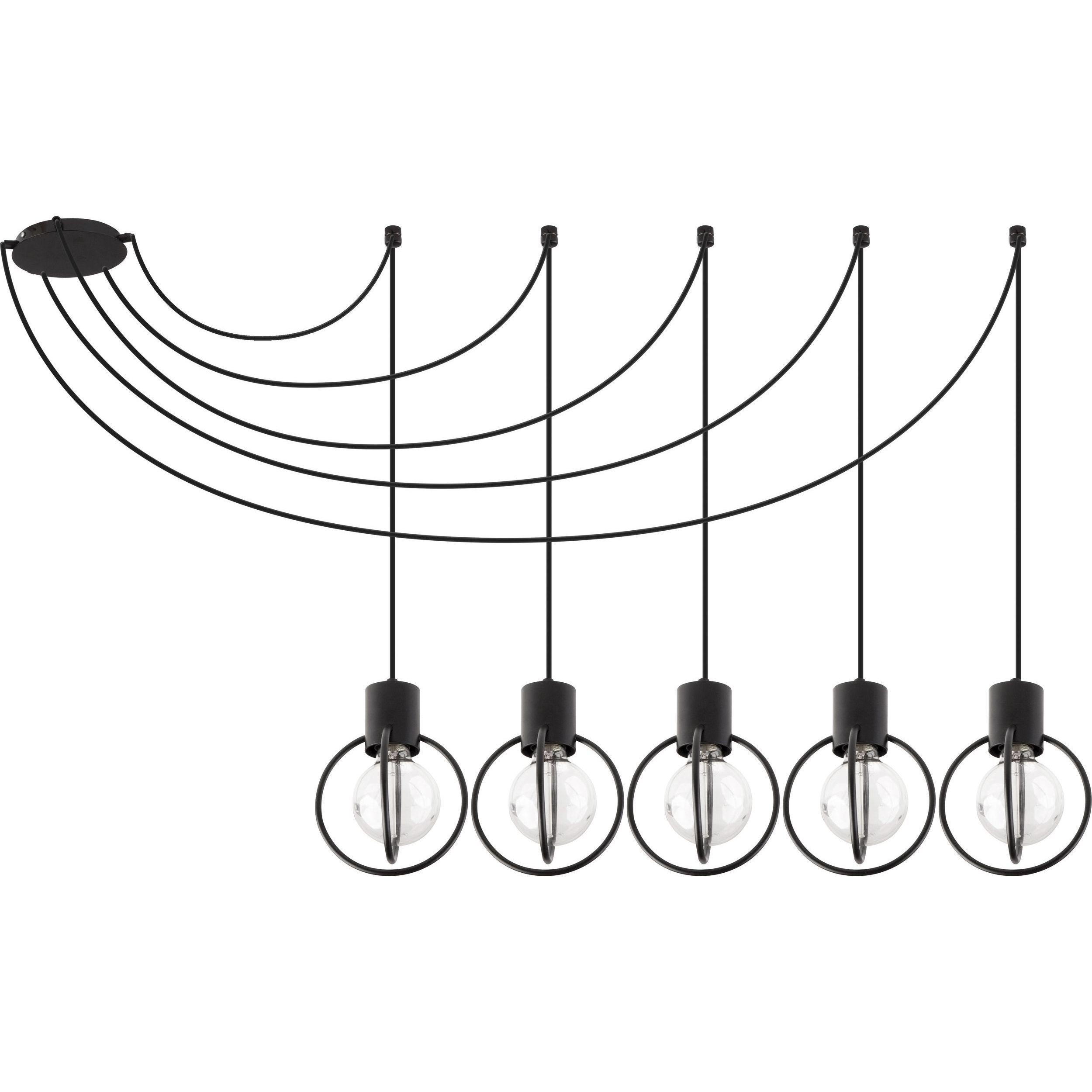 Lampa podwieszana Sigma Aura Koło x5 Czarny
