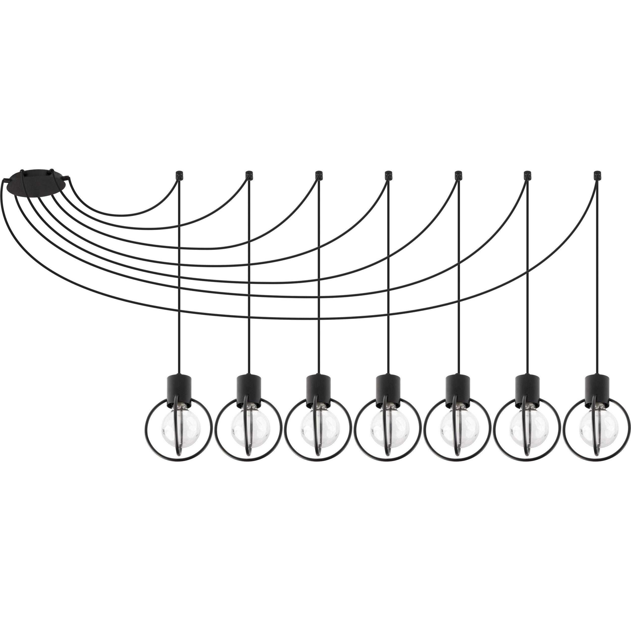 Lampa podwieszana Sigma Aura Koło x7 Czarny