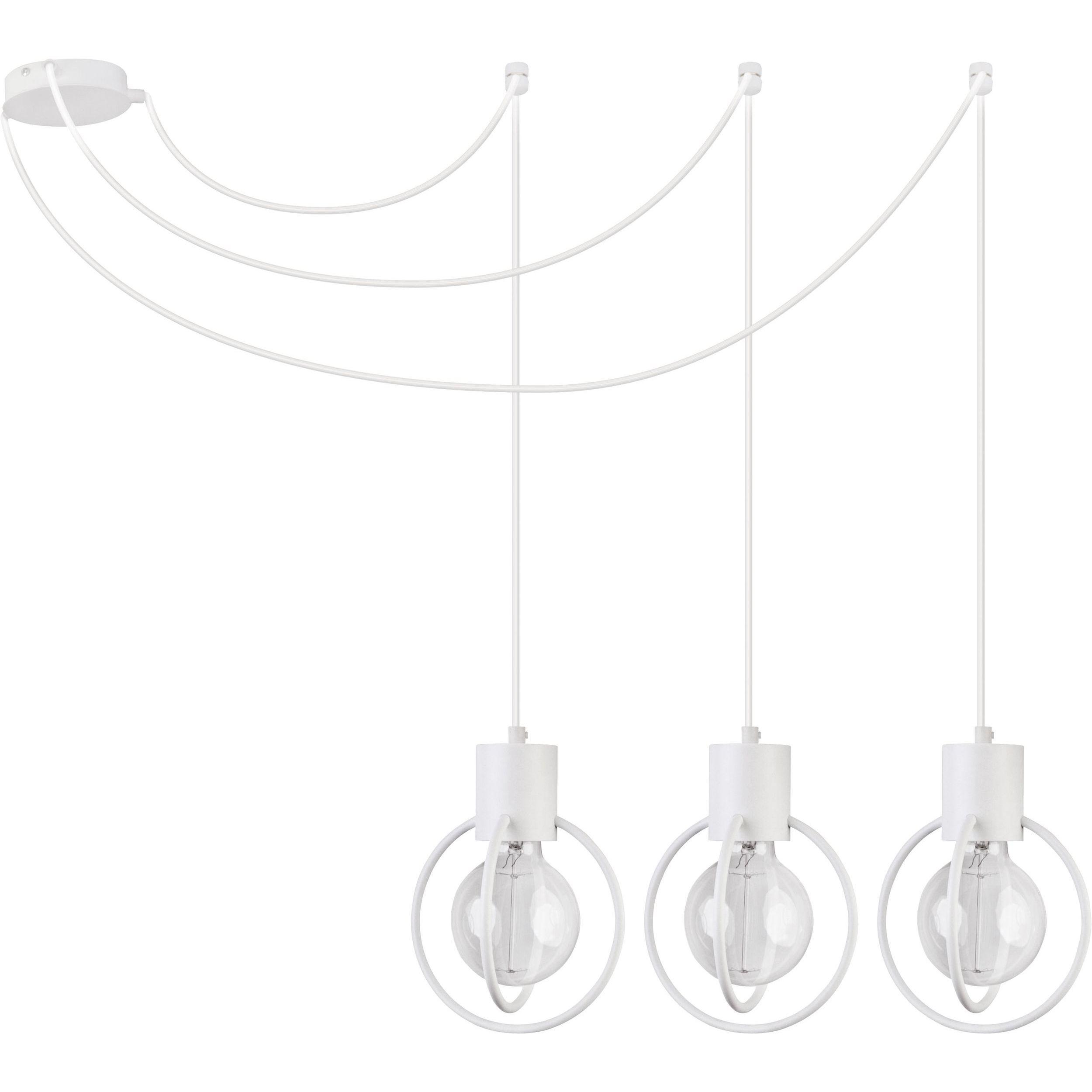 Lampa podwieszana Sigma Aura Koło x3 Biały