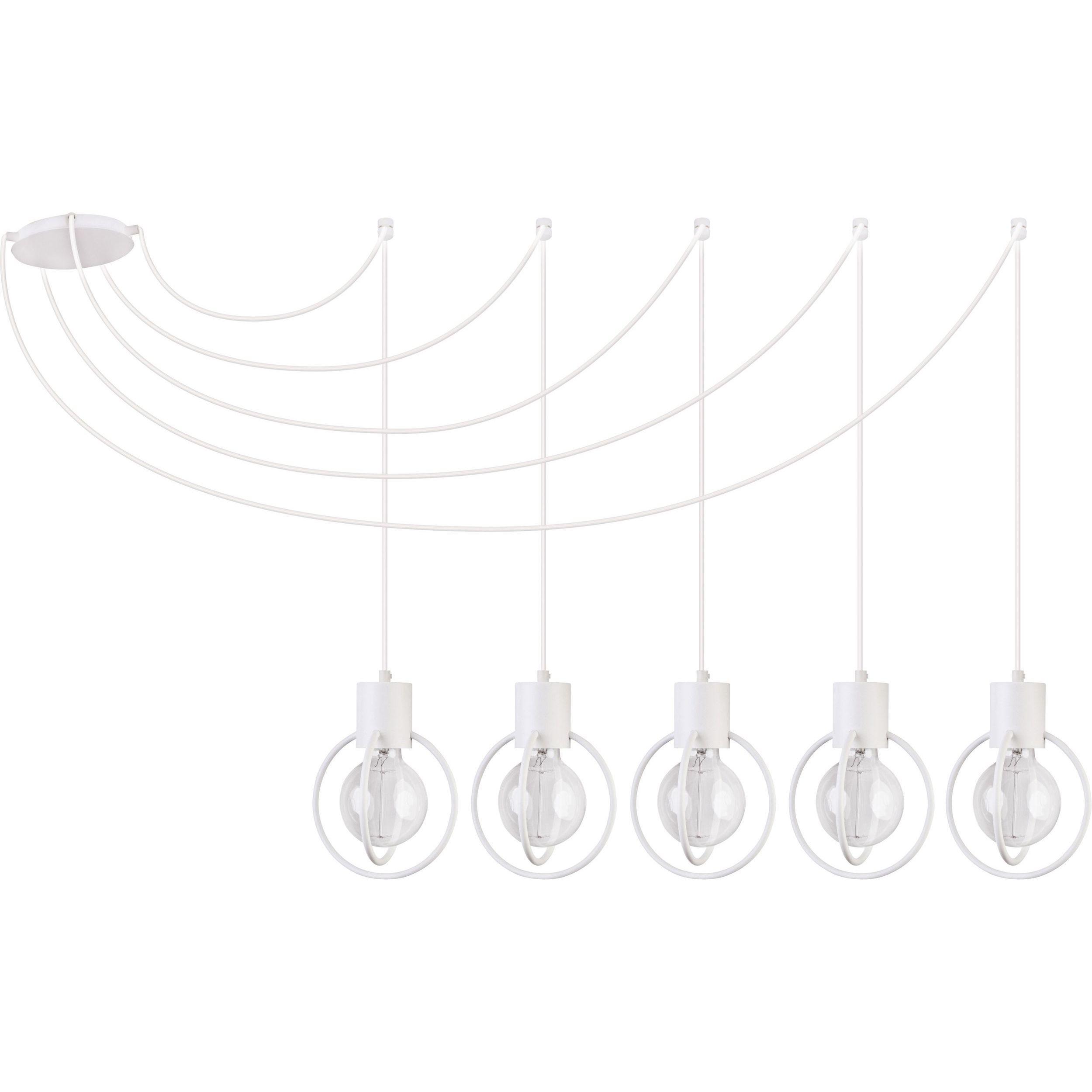 Lampa podwieszana Sigma Aura Koło x5 Biały