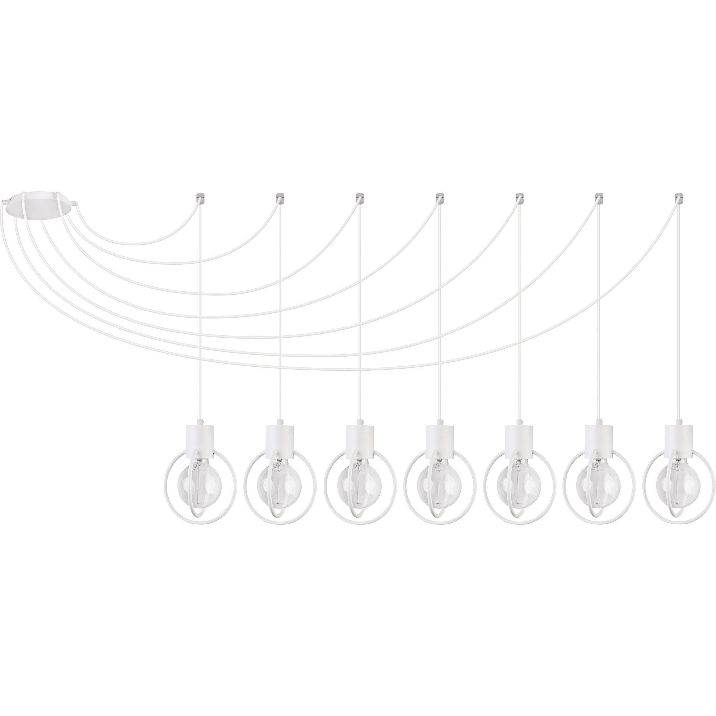 Lampa podwieszana Sigma Aura Koło x7 Biały
