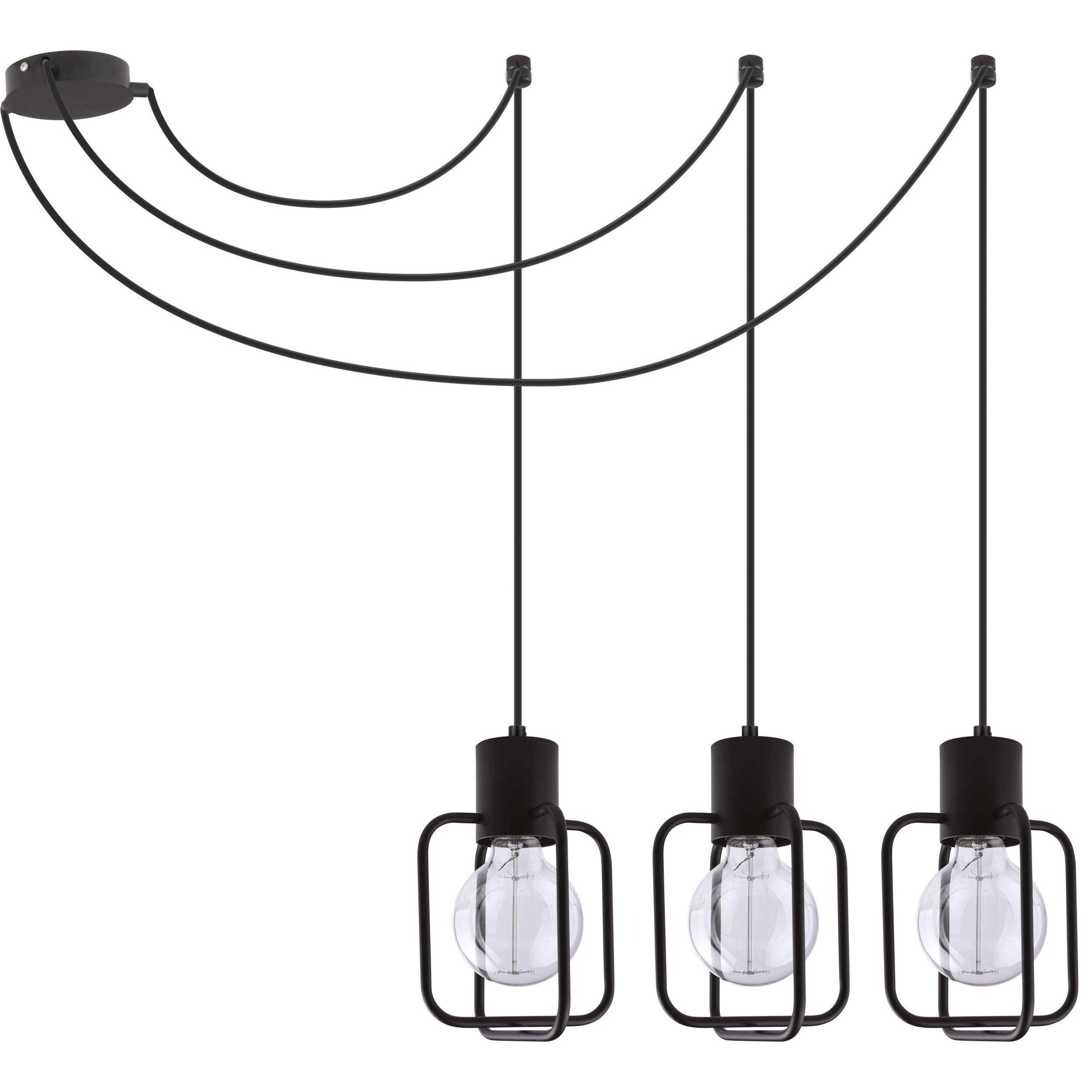 Lampa podwieszana Sigma Aura Kwadrat x3 Czarny