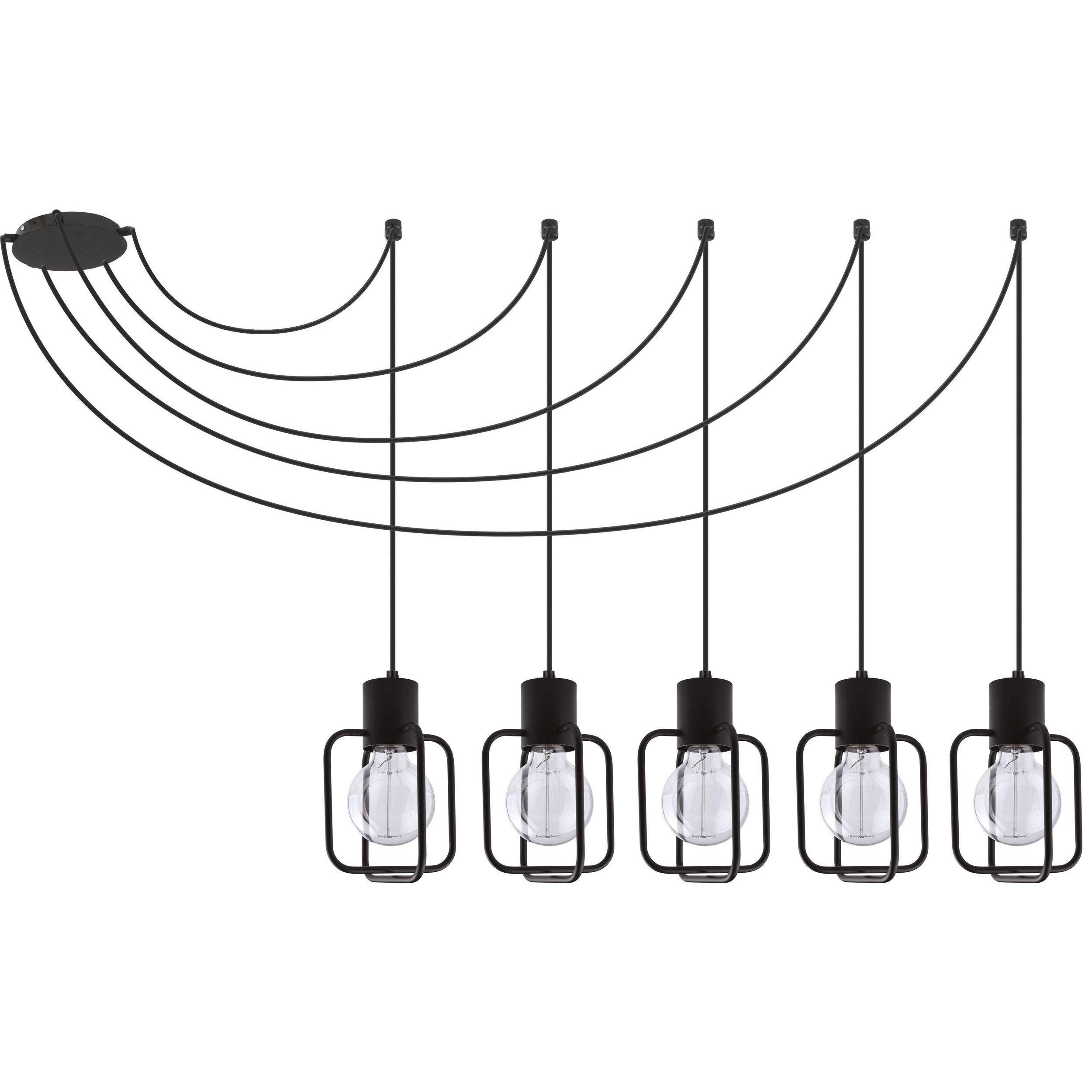 Lampa podwieszana Sigma Aura Kwadrat x5 Czarny