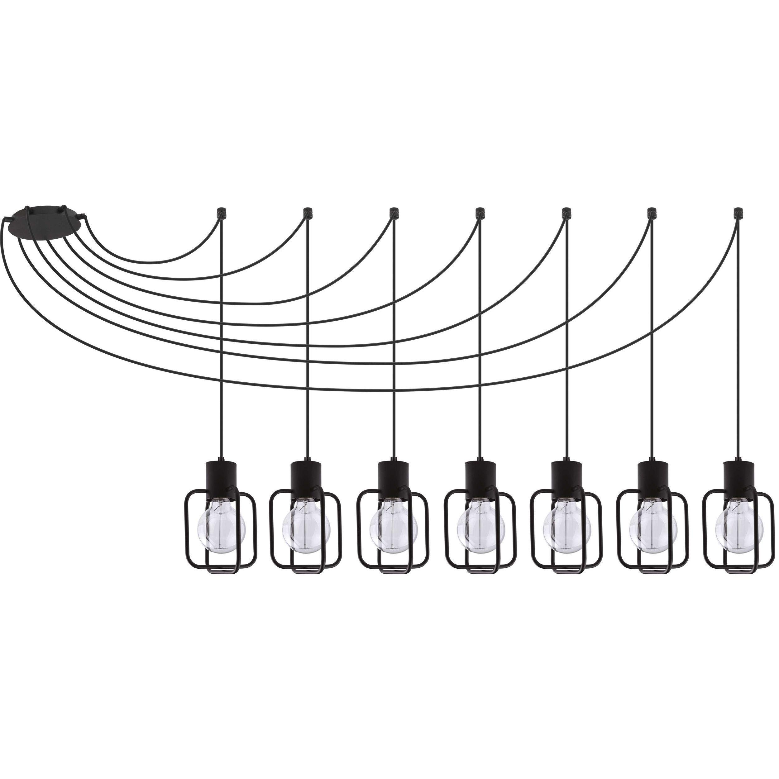 Lampa podwieszana Sigma Aura Kwadrat x7 Czarny