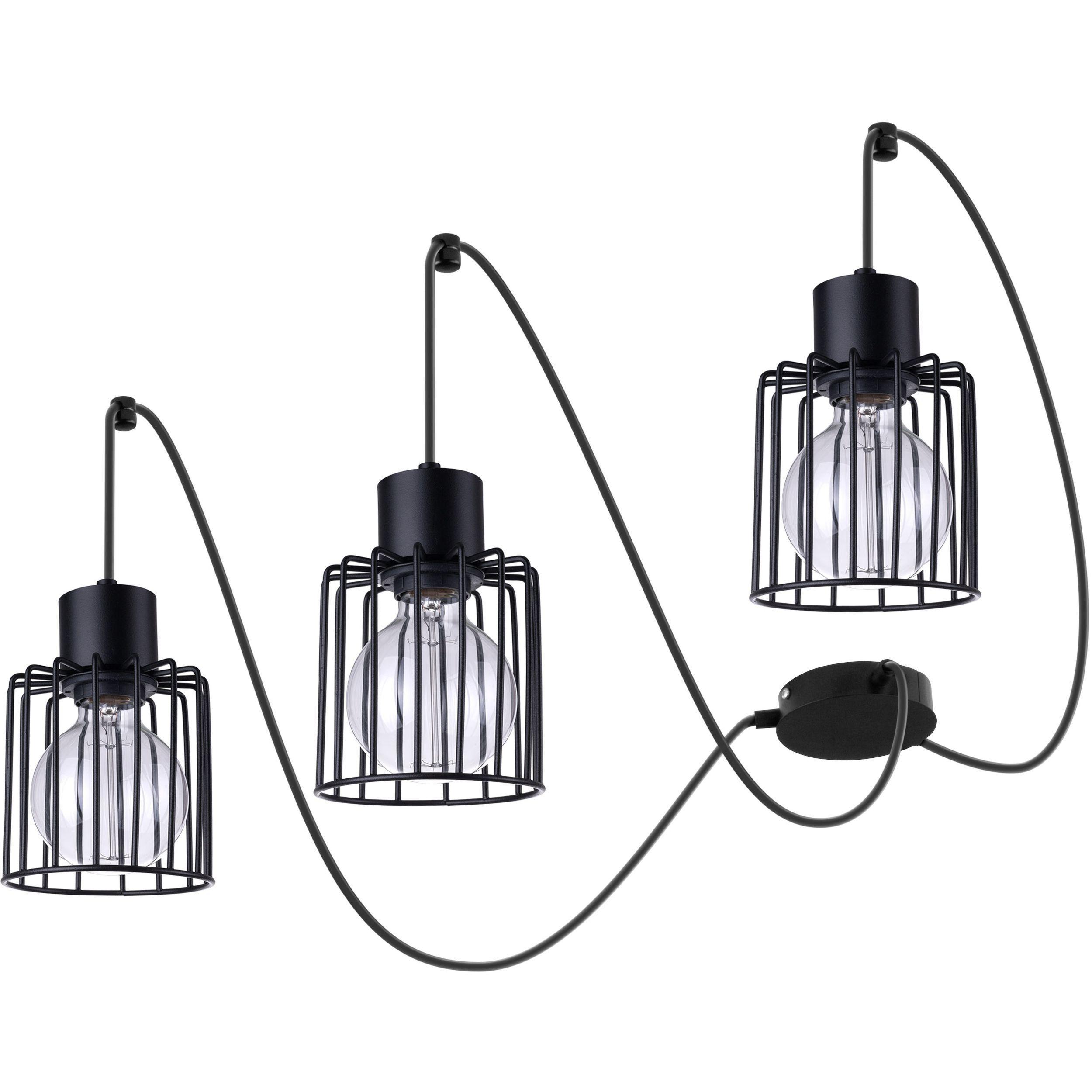 Lampa podwieszana Sigma Luto Kwadrat x3 Czarny