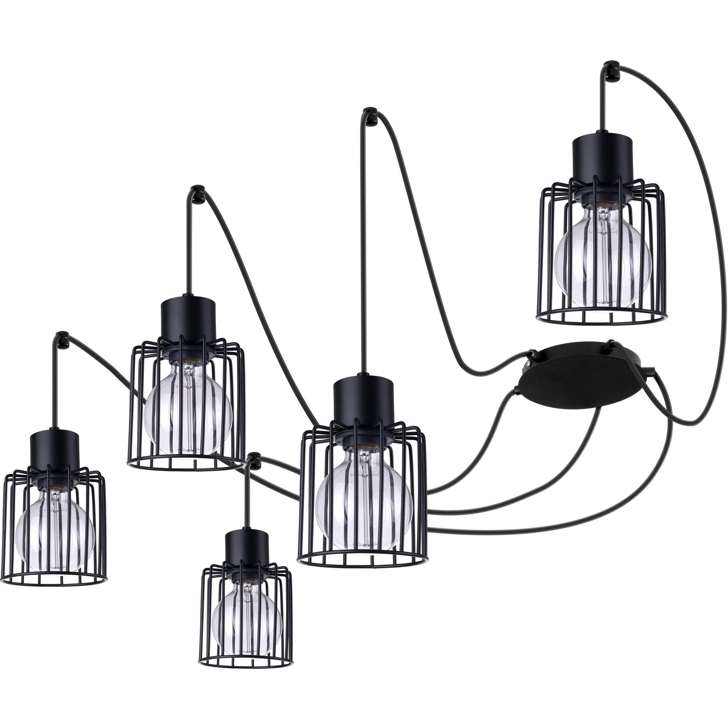Lampa podwieszana Sigma Luto Kwadrat x5 Czarny