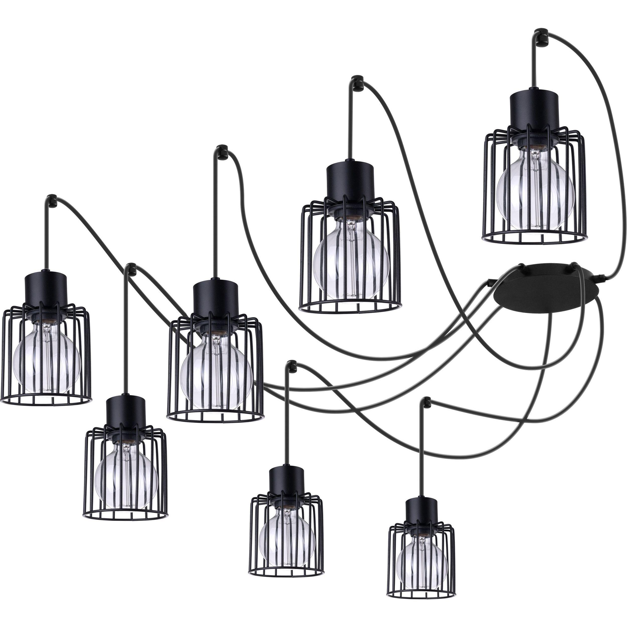 Lampa podwieszana Sigma Luto Kwadrat x7 Czarny