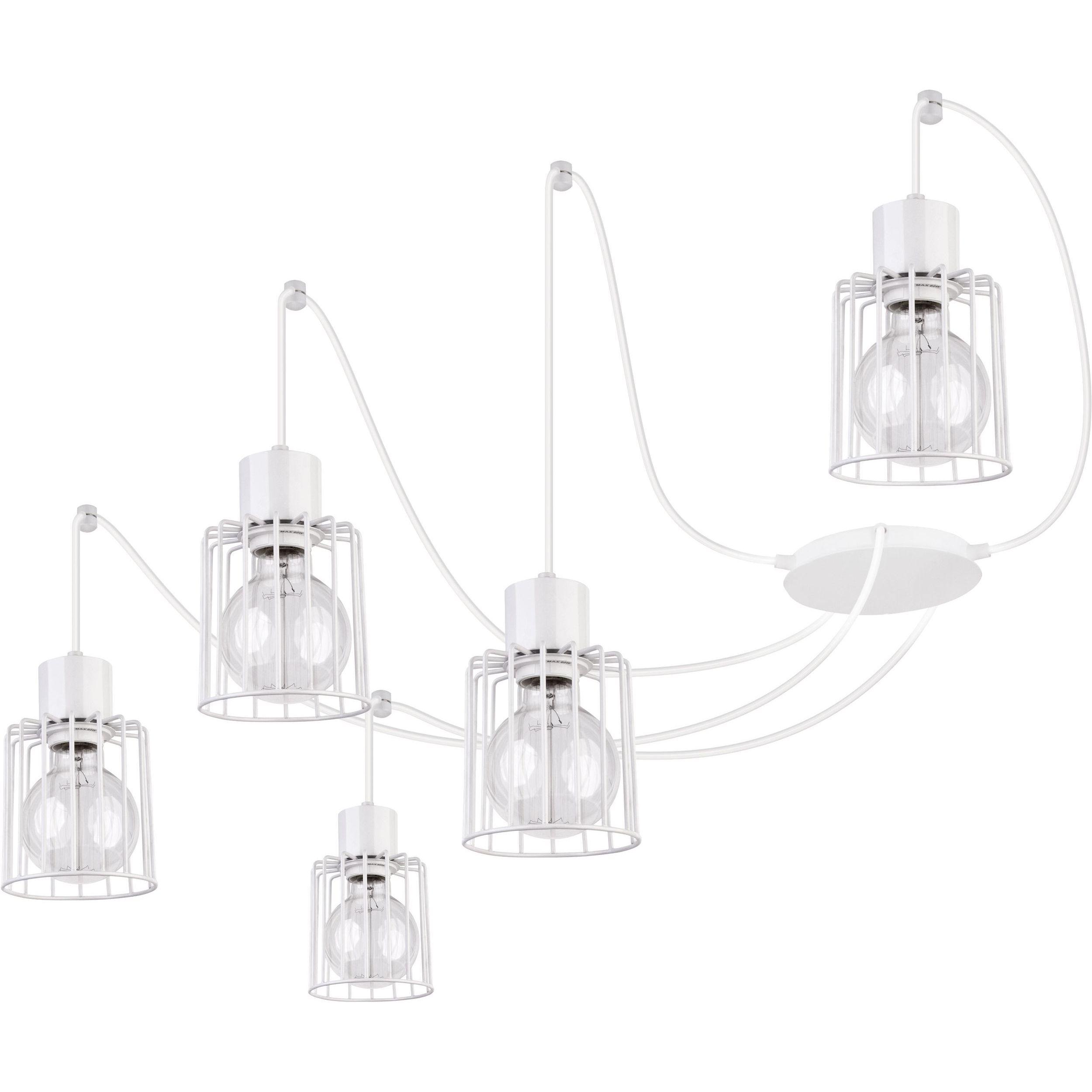 Lampa podwieszana Sigma Luto Kwadrat x5 Biały