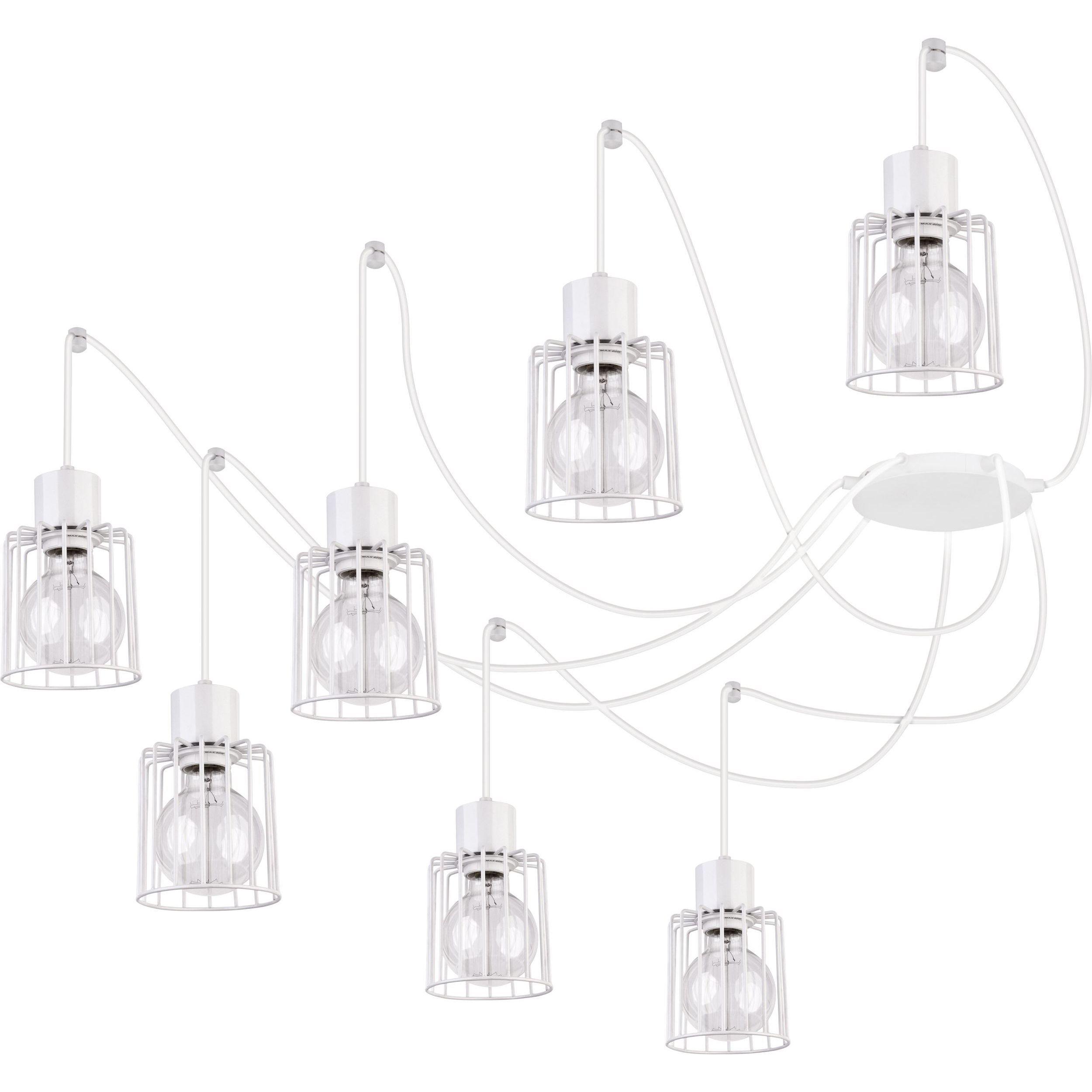 Lampa podwieszana Sigma Luto Kwadrat x7 Biały
