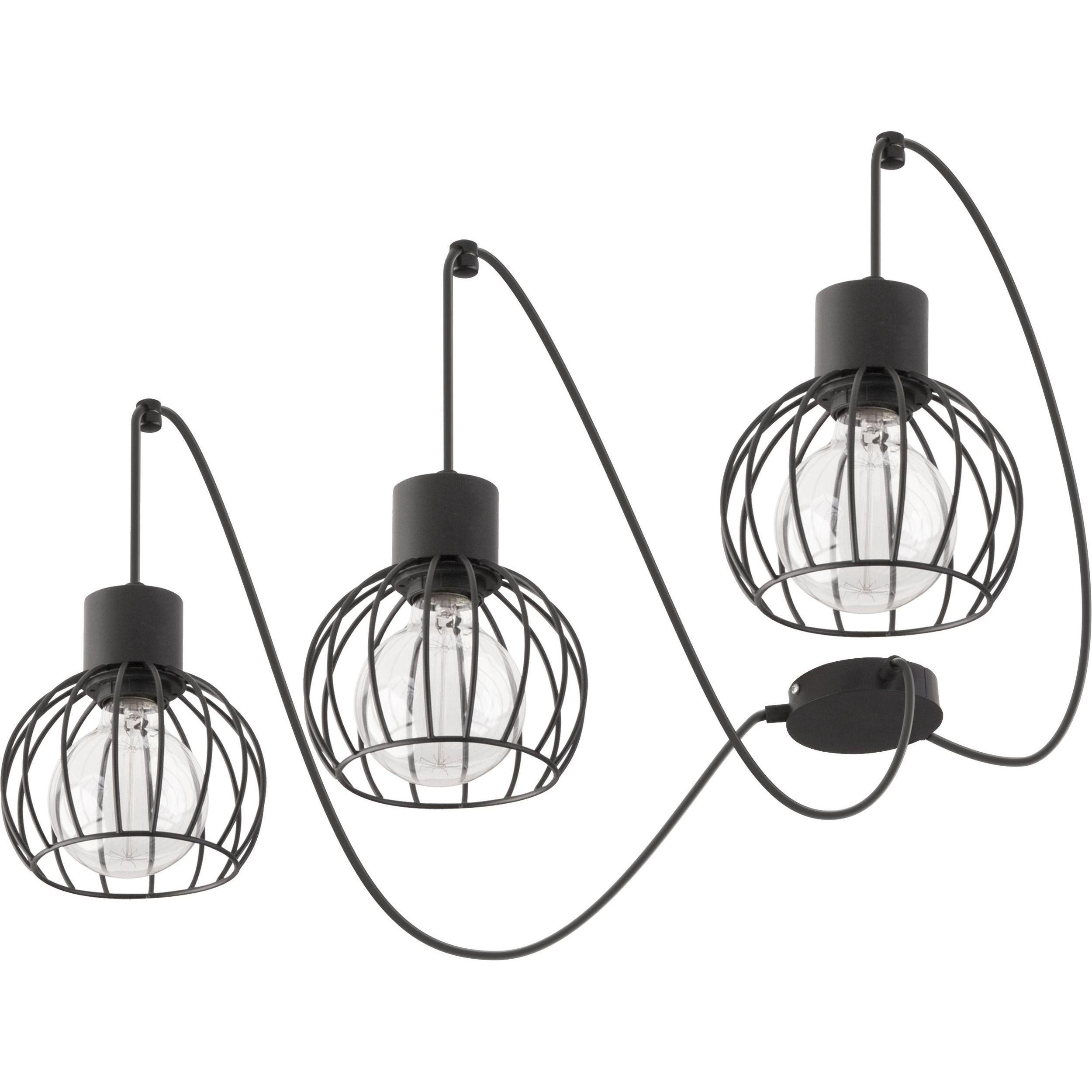 Lampa podwieszana Sigma Luto Koło x3 Czarny Mat