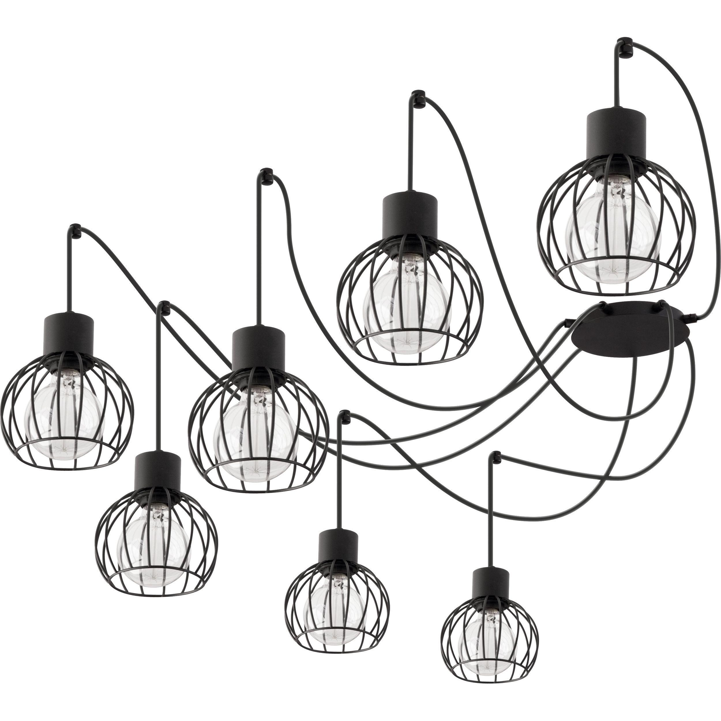 Lampa podwieszana Sigma Luto Koło x7 Czarny Mat