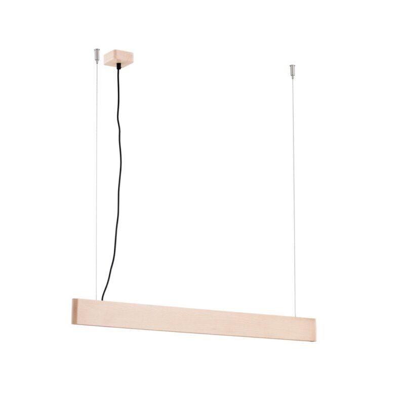 Lampa wisząca LED Argon Abra drewno buk 4117 belka mniejsza