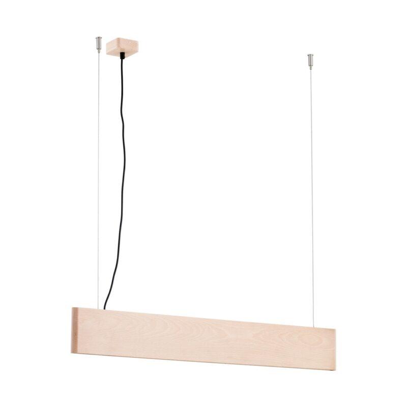 Lampa wisząca LED Argon Abra drewno buk 4140 belka większa