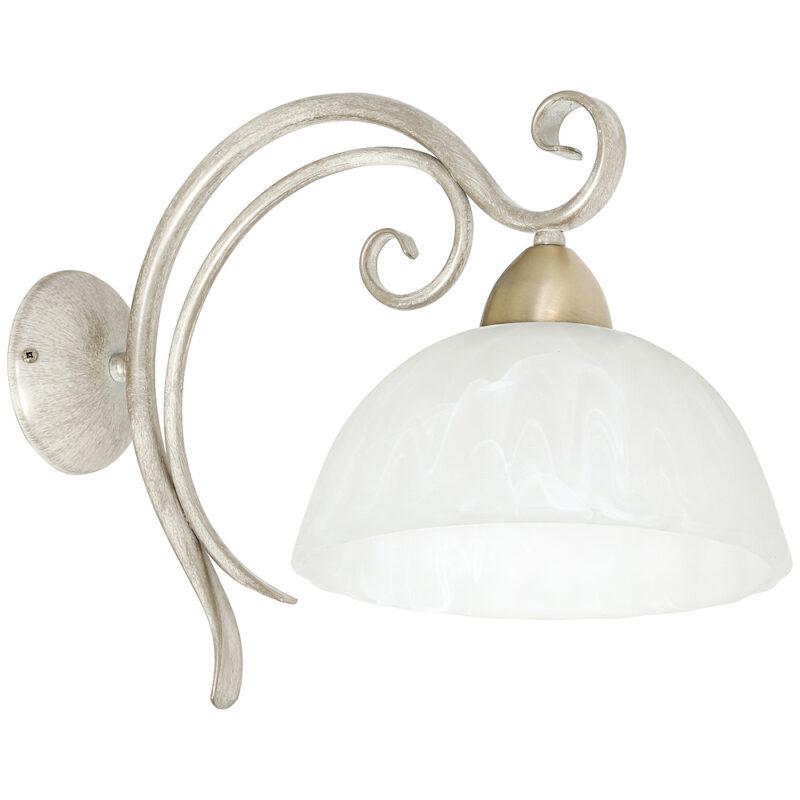 Kinkiet Luminex Aurora white/brass x1