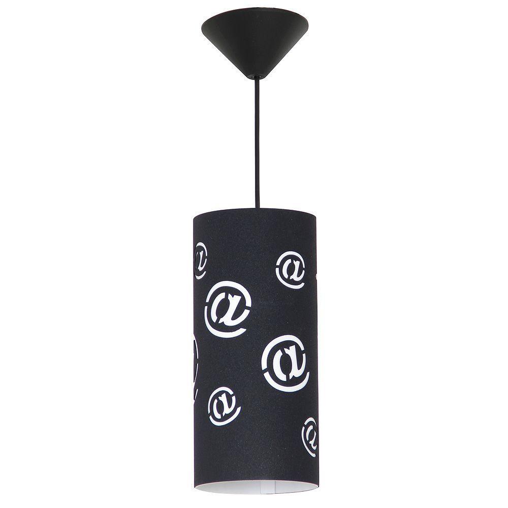 Lampa wisząca Aldex Pojedynczy Mail Black Mały 703G/1/M