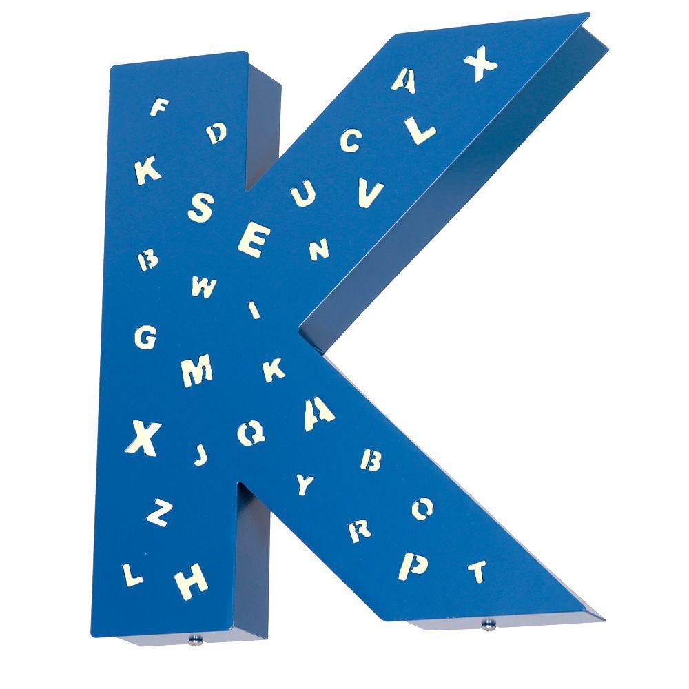 Kinkiet Aldex Literka K Z Dziurkami Blue 797S11/D/K