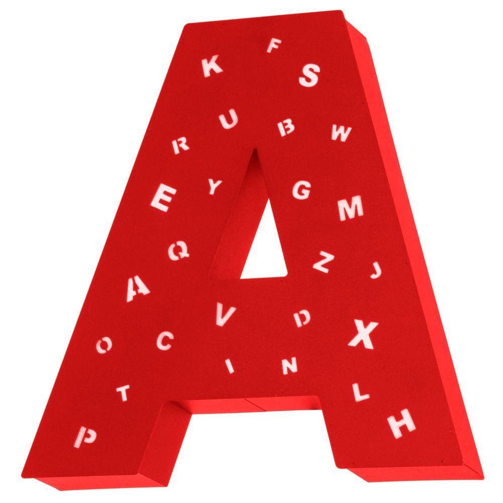 Kinkiet Aldex Literka A Z Dziurkami Red 797S/5/D/A