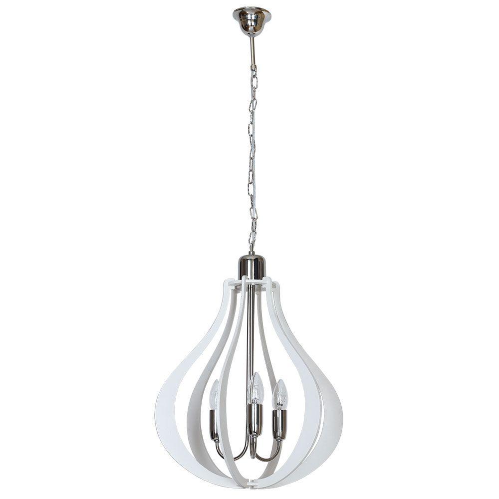 Lampa wisząca Aldex x3 Jura Owal Natural Chrom 877E