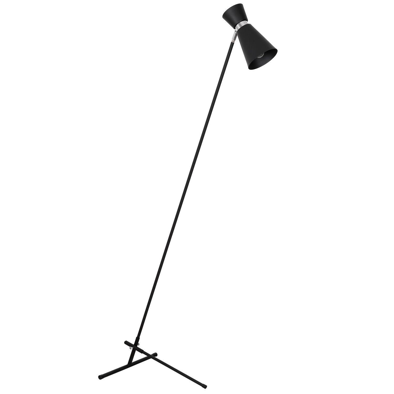 Lampa podłogowa Aldex Kedar Czarny Z Chromem 989A1